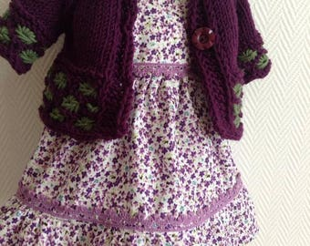 "Beautiful dress and cardigan for 16"" - 17"" Waldorf Doll"