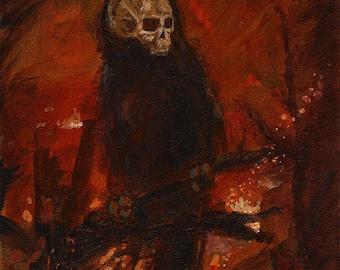 Original Skelecrow Painting - Harbingers II Series - War
