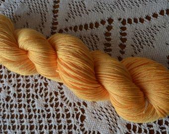 DK yarn, silk yarn, DK weight, hand-dyed silk superwash merino 225metres 100g for knitting crochet, tea rose