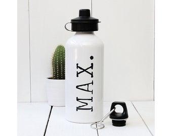 Personalised Typewriter Name Water Bottle
