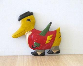 Vintage Novelty Chalkware Duck