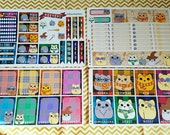 Harry Potter Kitty Plops~ Hand Drawn Weekly Sticker Kit and Half & Quarter Boxes for Erin Condren Planners