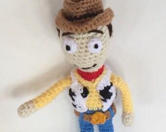 Cowboy Doll Amigurumi - woody doll - crocheted doll - Made to order - handmade cowboy