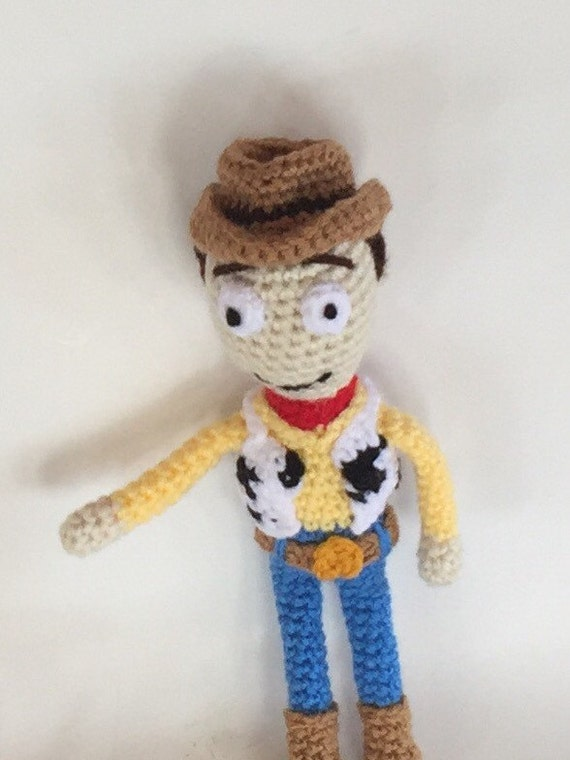 Amigurumi Cowboy : Cowboy Doll Amigurumi woody doll crocheted doll Made to