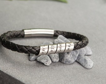 Lyric Black Open Scroll Leather Bracelet