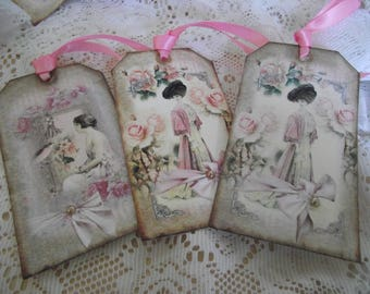 French Ladies Shabby Vintage Gift For Scrapbooking Journals Party Favors Thank you cards Gift Giving