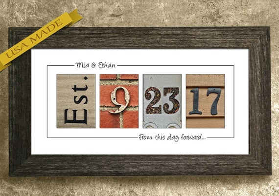 Gift for Her, Personalized Gifts, Custom Wedding Sign, Gift for Wife, Anniversary Gift, Wedding Gift for Couples, Established Date Sign