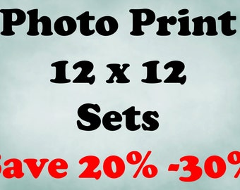 12x12 Prints, 12x12 Print Sets, Set of 12x12 Prints, 12x12 Photo Set, Save up to 30% off, Photo Sets, Choose your own set