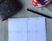 Midori Blank Printable Weekly Insert | Passport Size | Midori | Fauxdori | Traveller's Notebook | Planner | Planner Insert | Organizer