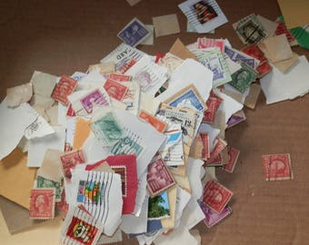 Lot of 500+   Assorted/Mixed Postage Stamps-Paper Ephemera....Lot 5