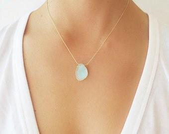 Aqua Druzy Necklace - Druzy Necklace - Druzy Jewelry