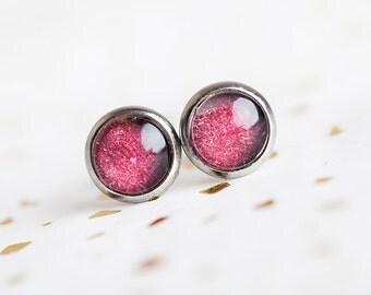 Berry Studs, Red, Red Berry Studs, Red Studs, Scarlet Studs, Red Earrings, Small Red Earrings, Crimson, Vamp, Stud Earrings