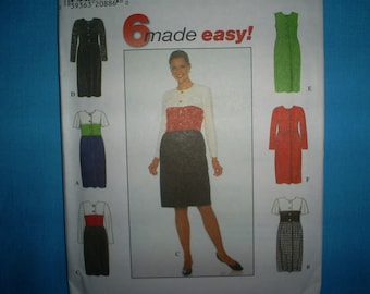 Simplicity 7849 Miss Size6-10 Dress.