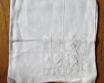 Vintage Handkerchief with flower details