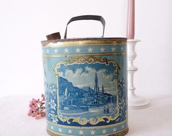 LOURDES Souvenir - Holy Water Can - Water of Lourdes - French Antique Souvenir From LOURDES - Kitch religious object