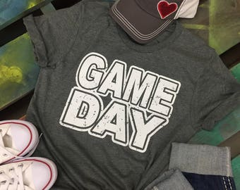 Game Day sports gray t-shirt tee soft shirt