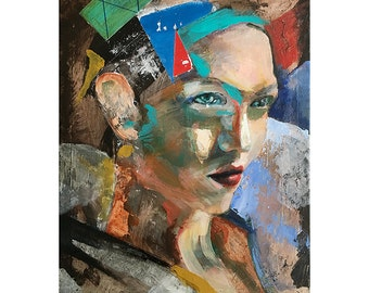 Head_TH_16, figure painting, original painting ,11 x 14, oil on canvas