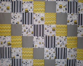 Charlie Brown Patchwork  Quilt