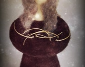 She Who Holds. Needle felted doll