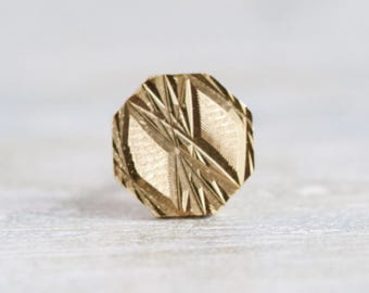 Vintage Tie pin - Geometric Golden Patterns Tie Tac