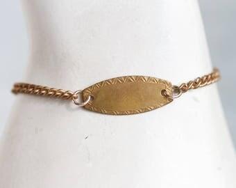 Delicate ID Bracelet - Brass Name Bracelet