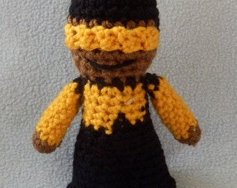 Made to order, Hand crocheted Jordy Star Trek like The Next Generation Amigurumi Doll