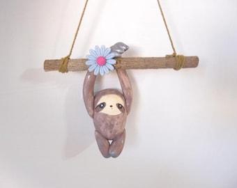 ooak Hand-made sloth ornament 48