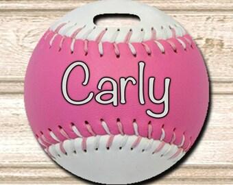 Softball Personalized Bag/Luggage Tag