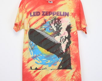 Led Zeppelin Shirt Vintage tshirt 1990 Tie Dye Blimp tee 1990s English Rock band Robert Plant Jimmy Page blues heavy metal music 90s
