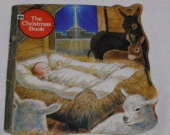 Vintage A Golden Shape Book The Christmas Book  by Donna Kelly 4th Printing 1979
