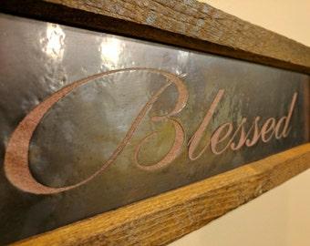 Blessed Framed Copper Engraved Art