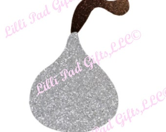 Chocolate Kiss - Cut File - Instant Download - SVG and DXF for Cameo Silhouette Studio Software & other Cutter Machines