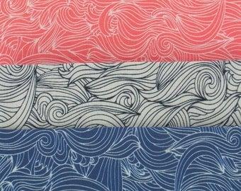 WAVES lightweight cotton voile