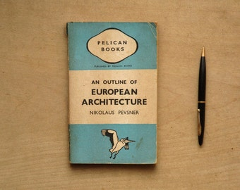 FRAIL European Architecture book by Nikolaus Pevsner pelican book