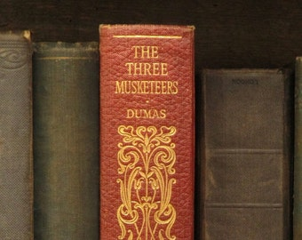 VIntage The Three Musketeers by Alexandre Dumas faux leather book