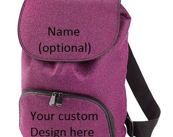 Custom embroidered Glitter Backpack-More Colors
