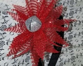 Jingle All Day at Grandma's House!  Jingle Bell Fascinator Headband