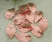 24Pcs  Rose Gold Leaves Charm,Nickel Free