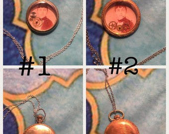 Large pocket watch pendants