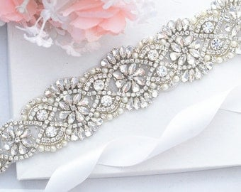 Bridal Sash Belt, Bridal Belt, Sash Belt, Wedding Dress Belt, Crystal Rhinestone Belt