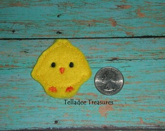 Chick Feltie - Small yellow felt - Great for Hair Bows, Reels, Clips and Crafts