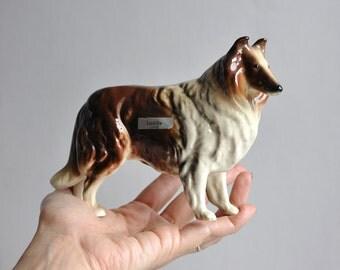 Porcelain Laddie Lassie Collie Figurine