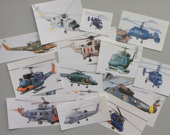 Vintage Helicopter Image Paper Clippings, Paper Cuts, Embellishments, Old Paper, Scrapbooking, Ephemera, 1980's
