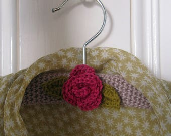 Crochet Pattern for Rose Coat Hanger