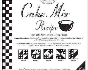 Cake Mix Recipe 1 pad  by Miss Rosie for Moda fabric CO.
