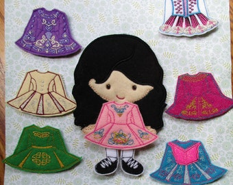 Irish Dancer Doll with 7 Outfits and Ghillies