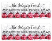 Christmas Address Label, Return Address Label, Christmas Envelope Seal, Christmas Label, Personalized Christmas Gift Tags (721)