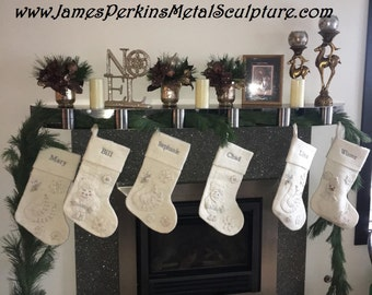 Stainless Steel Fireplace Mantels with Beautiful Accents