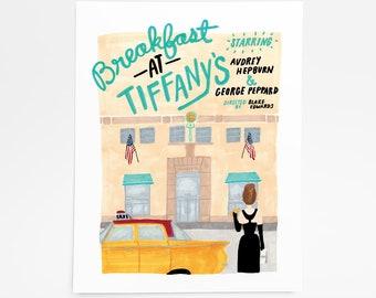 Breakfast at Tiffany's - Art Print - 8 x 10