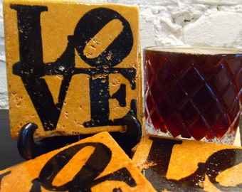 "Handmade ""Love"" Stone Coaster"